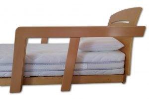 Vista laterale Testata a Sponde Protection Plus, Barriere per letto con doghe