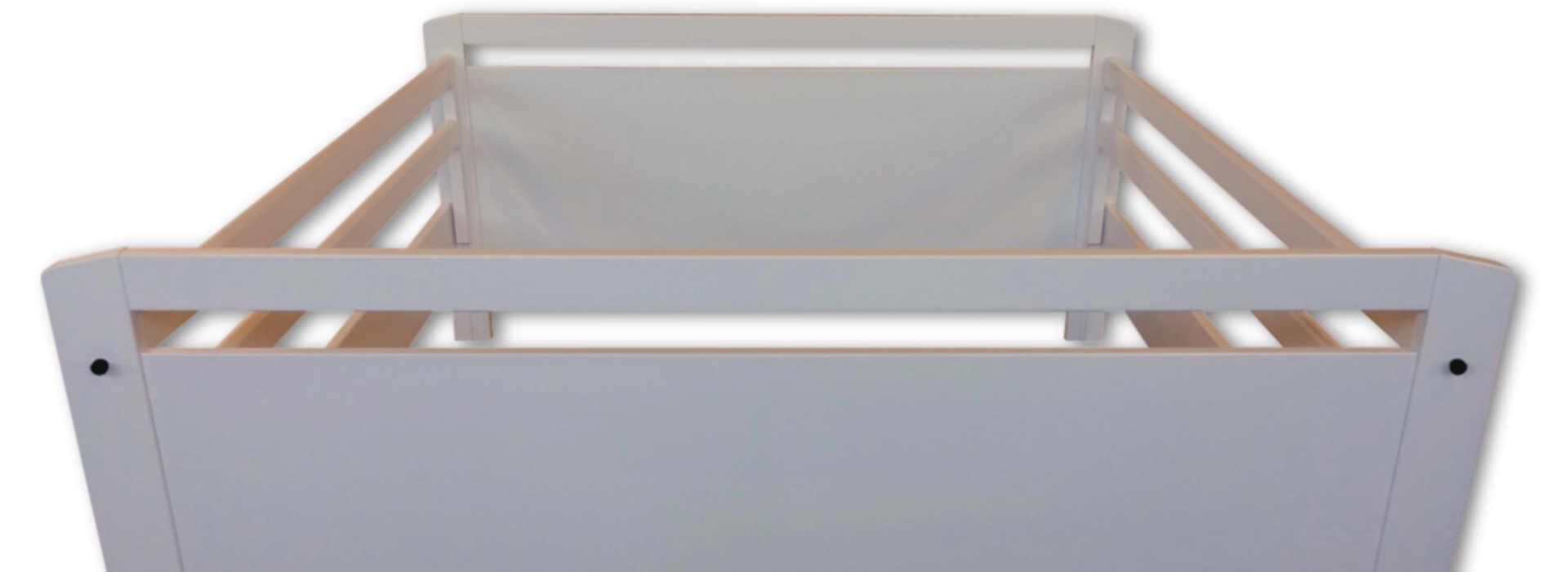 Sponde Letto Smart-Bed Deluxe versione a due piazze matrimoniale laccata bianca