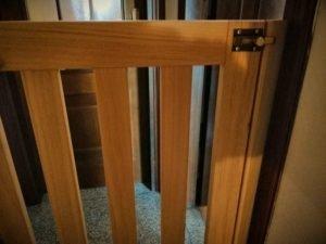 Chiusura cancelletto in legno