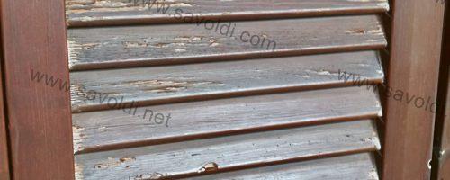 come restaurare persiane in legno malridotte