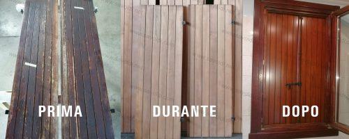 restauro scuri in legno