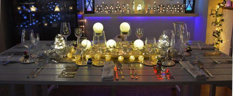 Tavolo da Pranzo Rettangolare per Natale, Capodanno e altri giorni festivi o eventi