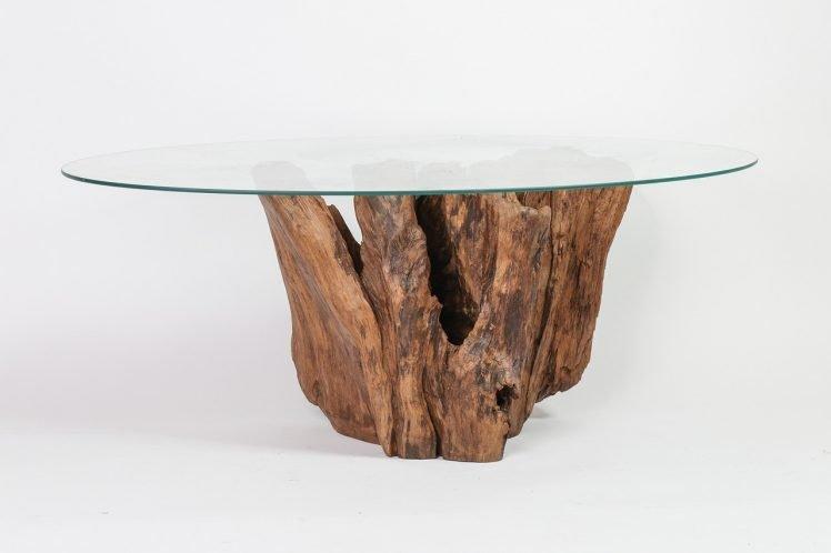 Tavolo ceppo di legno